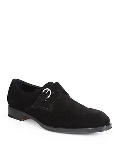 Suede Monkstrap Dress Shoes