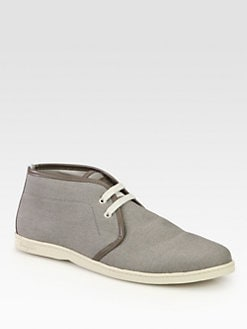 Salvatore Ferragamo - Mayorca Canvas Chukka Boots