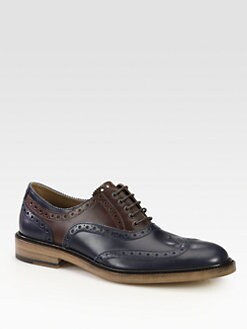 Salvatore Ferragamo - Two-Tone Wingtip Oxfords