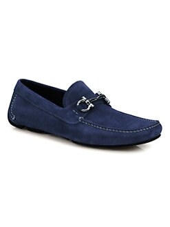 Salvatore Ferragamo - Parigi Suede Driving Slip-Ons