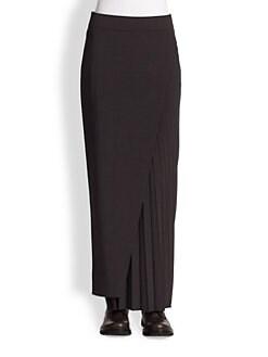 Brunello Cucinelli - Side-Pleat Maxi Skirt