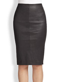 Brunello Cucinelli - Leather Pencil Skirt