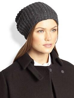 Brunello Cucinelli - Paillette-Embroidered Cashmere Hat