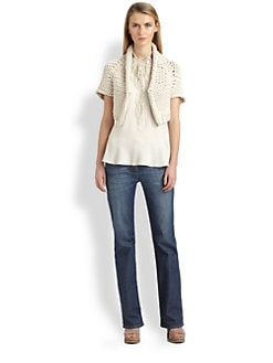 Brunello Cucinelli - Cropped One-Button Cardigan