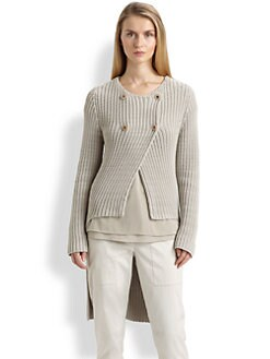 Brunello Cucinelli - Four-Button Tuxedo Sweater