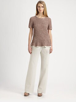 Brunello Cucinelli - Knit Peplum Top