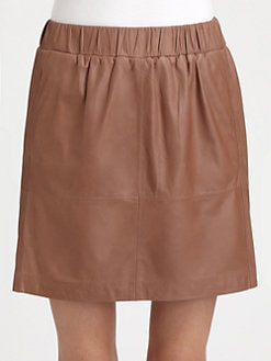 Brunello Cucinelli - Leather Skirt