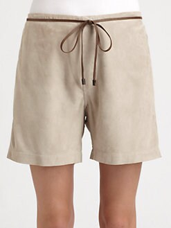 Brunello Cucinelli - Suede Shorts