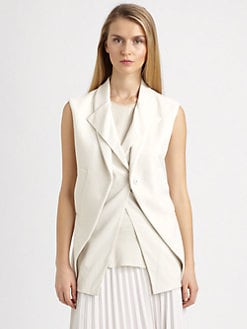 Brunello Cucinelli - Sleeveless Dual-Layer Vest