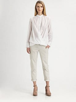 Brunello Cucinelli - Drape-Front Shirt