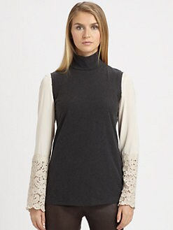 Brunello Cucinelli - Stretch Cotton Sleeveless Turtleneck
