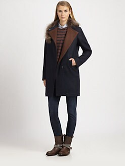 Brunello Cucinelli - Fur-Trimmed Cashmere Coat