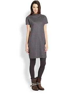 Brunello Cucinelli - Monili Neck Wool Dress