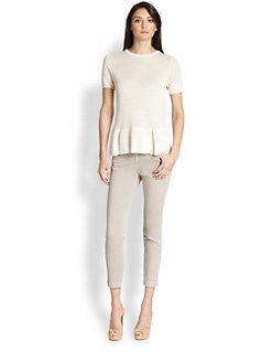 Brunello Cucinelli - Sequined Knit Peplum Top
