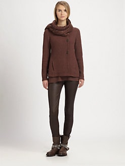Brunello Cucinelli - Trapeze Ribbed Cashmere Cardigan