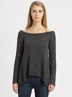 Brunello Cucinelli - Cashmere & Silk Paillette Sweater