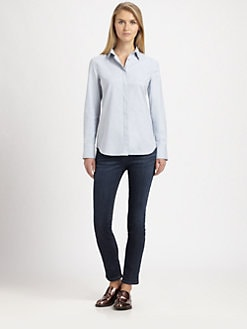 Brunello Cucinelli - Studded Chambray Shirt