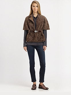 Brunello Cucinelli - Shearling Poncho