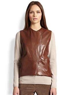 Brunello Cucinelli - Leather Gilet