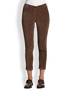 Brunello Cucinelli - Velvet Skinny Pants