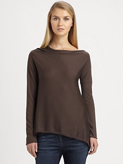 Brunello Cucinelli - Asymmetrical Cashmere & Silk Pullover