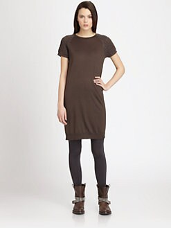 Brunello Cucinelli - Paillette-Sleeve Cashmere & Silk Dress