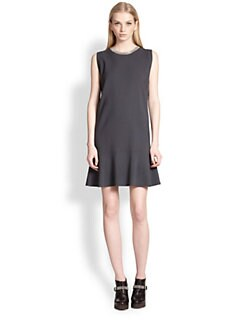 Brunello Cucinelli - Wool Crepe Monili-Detail Dress
