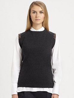 Brunello Cucinelli - Beaded Cashmere Shell