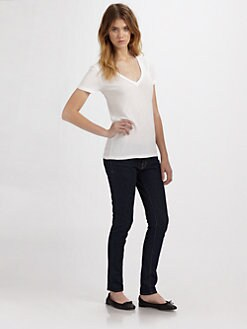 Splendid - V-Neck Jersey Tee