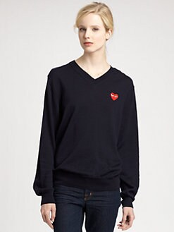 Comme des Garcons Play - Cotton Jersey Long-Sleeve Tee