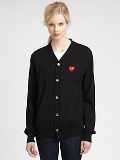 Comme des Garcons Play - Worsted Wool V-Neck Sweater