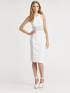 T by Alexander Wang - Netting Panel Dress
