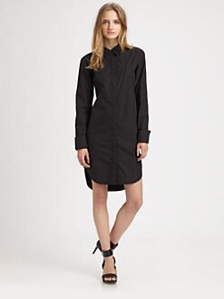 T by Alexander Wang - Cotton Shirtdress