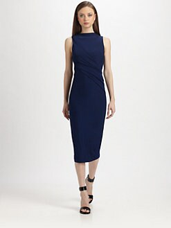 T by Alexander Wang - Draped Stretch Jersey Dress