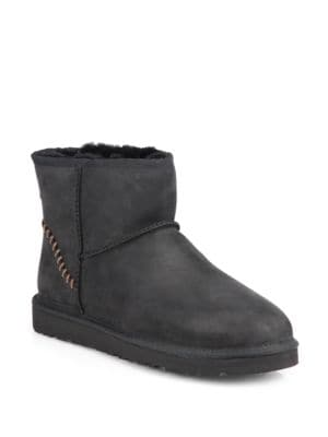 Classic Mini Shearling-Lined Leather Boots