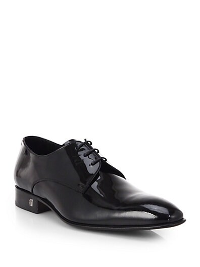 Patent Leather Lace-Up Dress Shoes