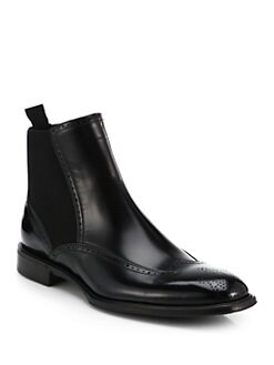 Dolce & Gabbana - Chelsea Wingtip Leather Boots