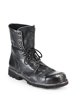 Diesel - Hardkor Steel Lace-Up Boots