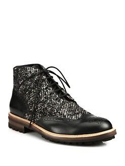 DSQUARED Mixed Media Ankle Boots