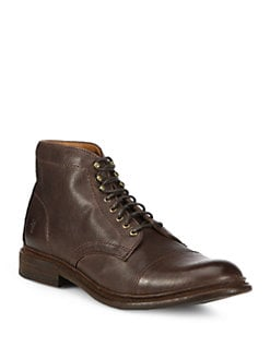 Frye - Jack Leather Lace-Up Boots
