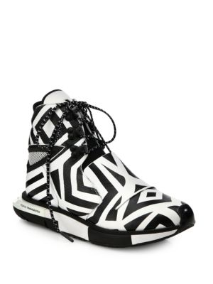 Hayex Graphic High-Top Sneakers