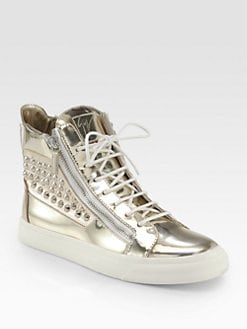 Giuseppe Zanotti - Double-Zip Studded High-Top Sneaker