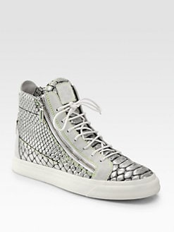Giuseppe Zanotti - Baraonda Snakeskin Double-Zip High-Top Sneakers