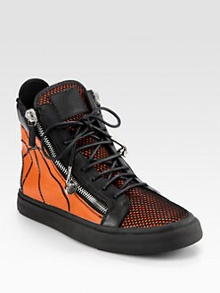 Giuseppe Zanotti - Basketball Double-Zip High-Top Sneaker