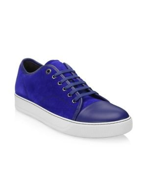 Suede & Leather Low-Top Sneakers