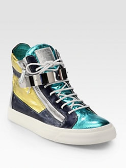 Giuseppe Zanotti - Double-Zip Bar High-Top Sneaker
