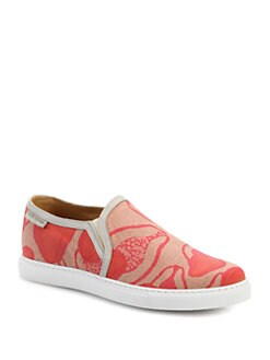 Marc Jacobs - Printed Canvas Slip-Ons