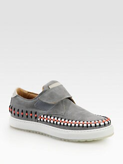 Marc Jacobs - Suede Slip-Ons with Velcro