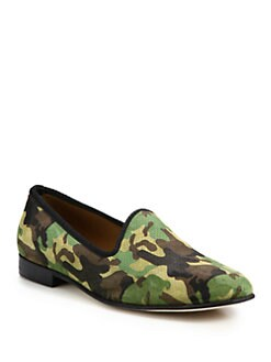 Del Toro - Camouflage Suede Slipper Shoe