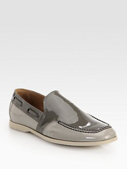 Bottega Veneta - Patent Leather Slip-Ons